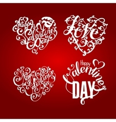 Valentines day calligraphy and lettering vector image vector image