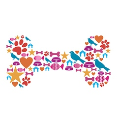 Dog bone icon set vector image vector image