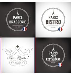 Set of Paris Badges vector image vector image