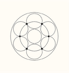 dotted geometric shape vector image