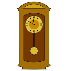 home classic clock vector image vector image