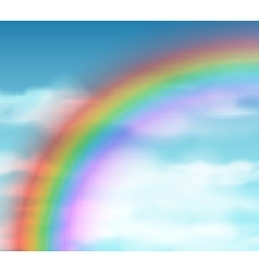 Natural background with rainbow vector image vector image
