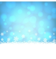 snowflakes border with shiny blue background vector image vector image