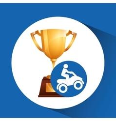 Extreme sport avatar quad bike design vector