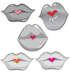 lip hearts vector image