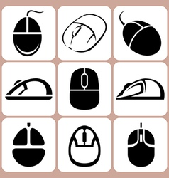 mouse icon set vector image