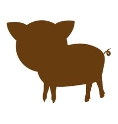 pig farm animal silhouette icon vector image