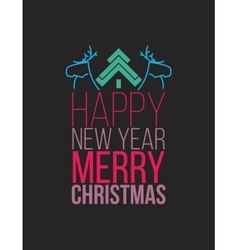 Simple Christmas poste flat design vector image vector image