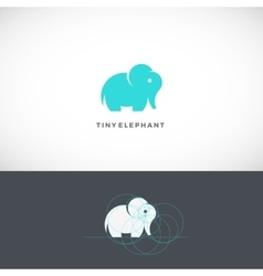 Tiny Elephant Abstract Logo Template Sign vector image vector image