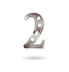 2 years anniversary celebration design vector image