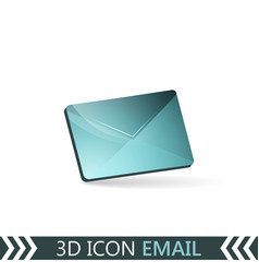 3d icon email envelope vector