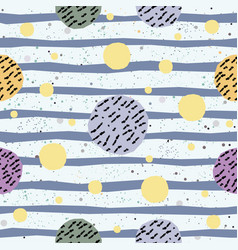 abstract seamless pattern with hand drawn elements vector image