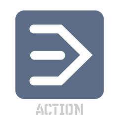 Action concept icon on white vector