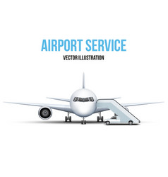 Airport service vector