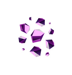 amethyst stone crystal quartz mineral violet vector image