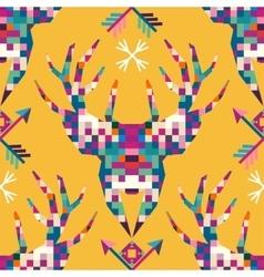 Animal head deer triangular pixel icon vector