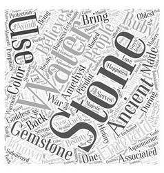 Antique gemstones Word Cloud Concept vector