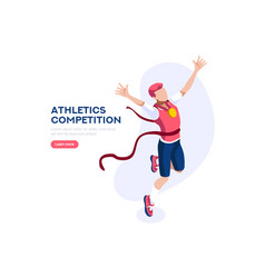 Athletics strong competition vector