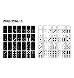 black and white domino full set vector image