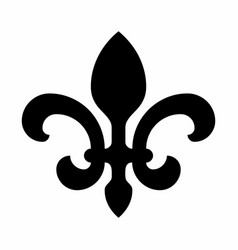 black fleur-de-lis symbol vector image