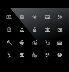 business and finance icons 32px series vector image