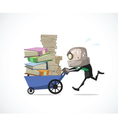 businessman run vector image