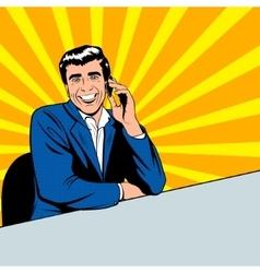 businessman speaking phone vector image