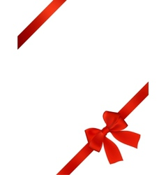 Card With Red Bow vector image vector image