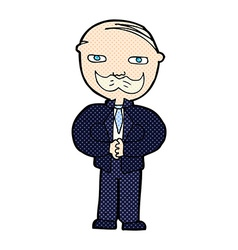 caroton old man with mustache vector image