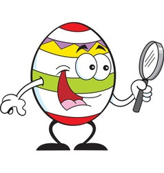 Cartoon Easter egg vector