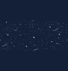 cartoon starry seamless pattern vector image