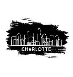 Charlotte north carolina usa city skyline vector