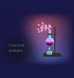 chemical scientific background template with vector image
