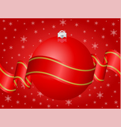 christmas decoration red vector image