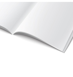 Close-up of blank opened magazine template vector