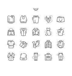 Clothes well-crafted pixel perfect thin vector