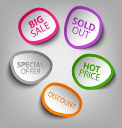 Colorful abstract stickers sale template vector image