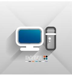 computer 3d paper design vector image