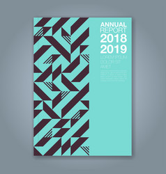 cover annual report 1194 vector image