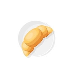 Croissant in a flat style Food office breakfast vector image