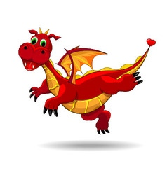 Cute funny dragon vector