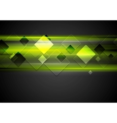 Dark green glowing tech background vector