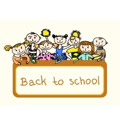 Decorative back to school background vector image