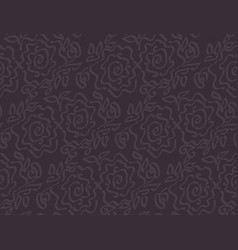 Deep dark laze style tender rose floral vector