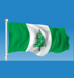 flag of norfolk island vector image