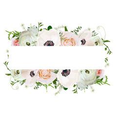 floral design square card design soft light pink vector image