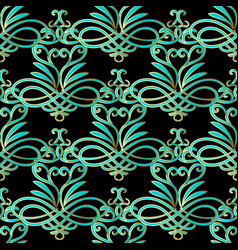floral paisley seamless pattern vector image