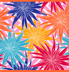 floral summer seamless background flowers vector image