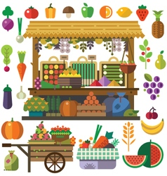 Food market vector