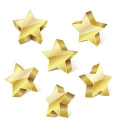 golden metallic stars vector image
